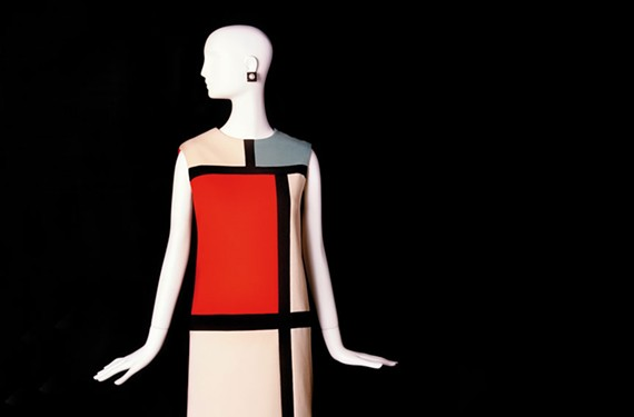 An homage to Piet Mondrian, a cocktail dress from fall-winter 1965 haute couture collection.