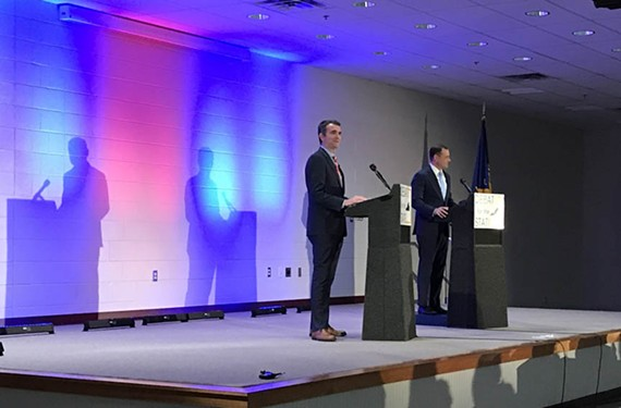 Candidates Lt. Gov. Ralph Northam and former Rep. Tom Perriello tangled at last week's Democratic primary debate in Richmond.