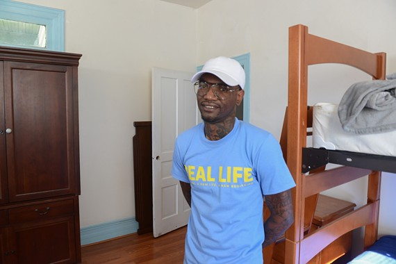Carlton Smith is one of the first three residents of a new recovery house for former jail residents. The house in Manchester will soon house eight.