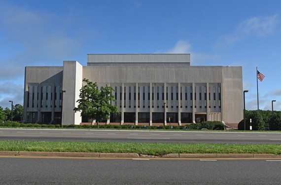 The SunTrust Operations Center at 7818 Parham Road is a prime example of Richmond brutalist architecture.