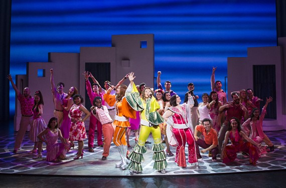 "The cast of the long-running hit musical, ""Mamma Mia"" gets its Abba on during a big number. The show runs for two nights at the Altria Theater."