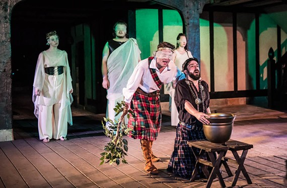 An ensemble cast of Jessica Meyer, Levi Meerovich, newcomer Ryan Wilson, star Axle Burtness, who plays Macbeth, and Irene Kuykendall, does admirable work in a fairly tame reading of one of the Bard's most famous classics.