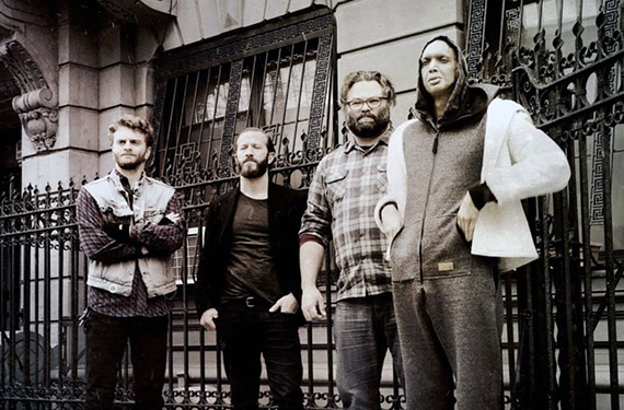 Guitarist Toby Summerfield, second from right, played around with jazzbos in Williamsburg before joining heavy metal band Ex Eye.