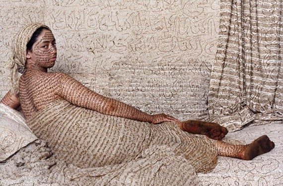 """LFM: Grande Odalisque"" is by contemporary artist Lalla Essaydi who grew up in Morocco and now lives in the United States. Essaydi will speak at a major Islamic art symposium at VMFA in early November."