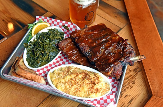 Jackson's Beer Garden and Smoke House's ribs, greens and mac 'n' cheese tempt diners in Jackson Ward.