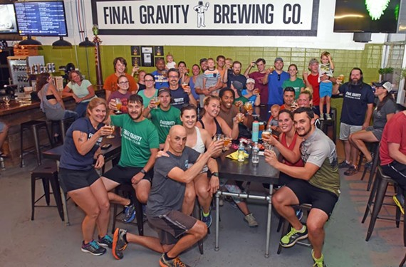 The Final Gravity Running Club meets every Thursday and combines sport with beer — some might say that's the perfect pairing.