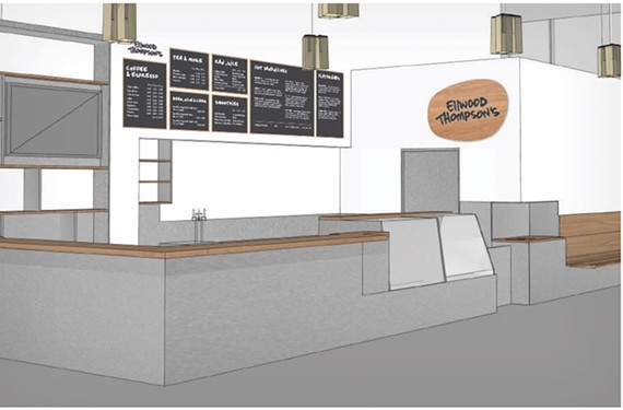 A rendering of the new cafe by Ellwood Thompson's Local Market coming to the ICA.
