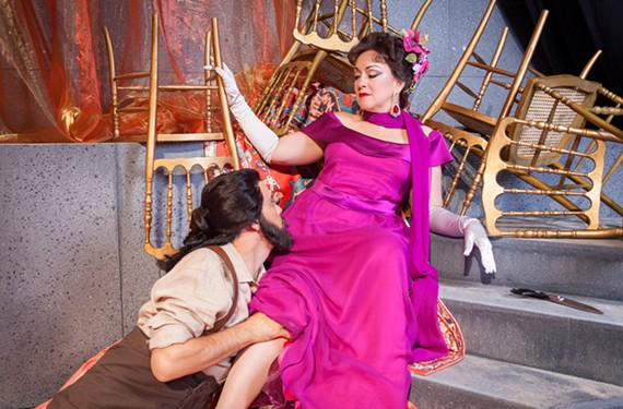Katharine Goeldner plays Delilah and Derek Taylor is Samson in Virginia Opera's season premiere, which will be staged with the Virginia Symphony.