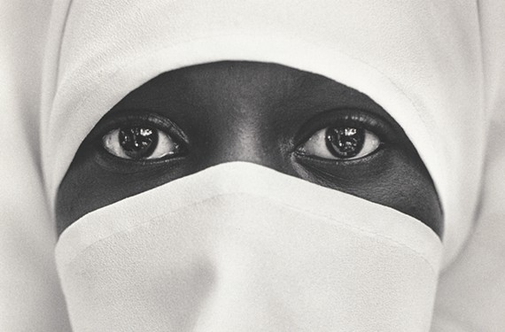 """""""New York City, A young Moslem woman in Brooklyn"""" by Chester Higgins."""