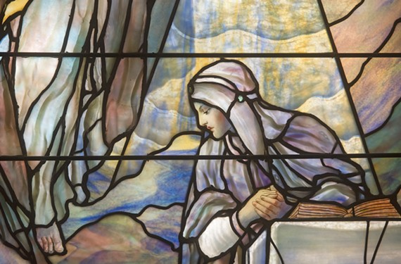 A detail of the Annunciation at St. Paul's Episcopal Church.