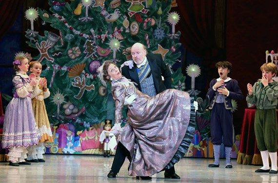 "Susan Israel Massey, shown here middip, has played Grandmother in Richmond Ballet's production of ""The Nutcracker"" for nearly three decades. Massey has worked with generations of Richmond children in the nationally acclaimed production."