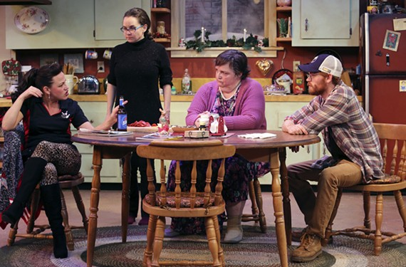 Donna Marie Miller, Audra Honaker, Catherine Shaffner and John Mincks star in the perfectly paced and humorous new play by Virginia Rep at Hanover Tavern, directed by Debra Clinton.
