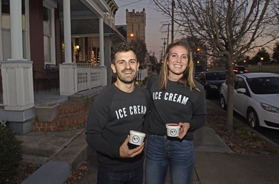 Creators of Spotty Dog Ice Cream, Alex Miller and Hannah Sager, are introducing Richmond to their New England style ice cream.