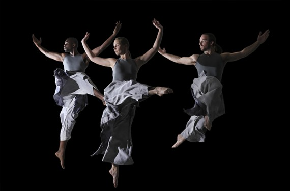 The Starr Foster Dance Project includes dancers Erick Hooten, Anna Branch and Ryan Davis.