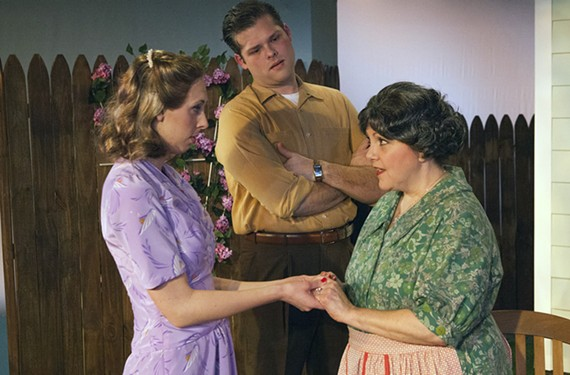 "Maggie McGurn plays Ann, George Dippold is Chris and Jacqueline O'Connor is Kate in the classic Arthur Miller drama ""All My Sons"" at Swift Creek Mill."
