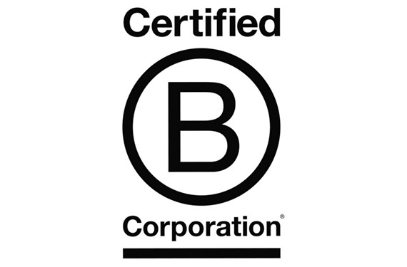 The B Corp symbol means that a for-profit company has been certified by the nonprofit B Lab to meet rigorous social and environmental standards.