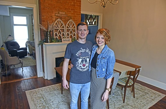 "Local newlyweds Kyle and Rachel Lane were recently featured on HGTV's ""House Hunters."" After debating whether to go for midcentury modern or classic Southern, the couple bought and settled into a Church Hill row house."