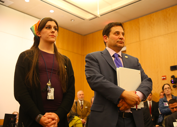 Delegates Danica Roem (D-Prince William) and Mark Levine (D-Alexandria).