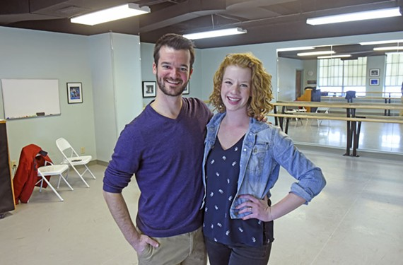 Paul Dandridge and Emily Berg-Poff met in a Richmond Ballet outreach program and then began appearing in the same local theater productions. Pretty soon, they decided to get married and make it official.