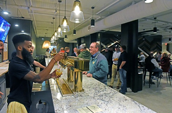 Canon & Draw Brewing Co. had 11 beers available on tap during its inaugural weekend.