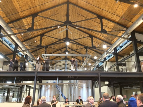 The expansive new Hardywood West Creek in Goochland is spacious, yet warm and inviting.