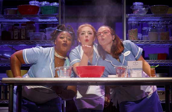 "Charity Angel Dawson, Desi Oakley, and Lenne Klingaman in the national touring production of ""Waitress."""
