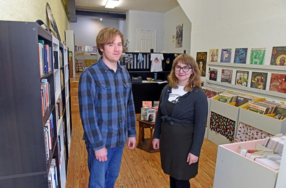 The husband-and-wife team of Jordan Pulaski and Zoe Golden recently opened Small Friend Records and Books at 105 N. 17th St.