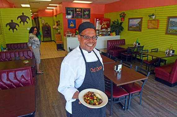 Guyana native chef Claudius Charles serves up classic Caribbean fare at his strip mall restaurant.
