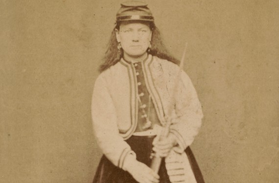 Kady C. Brownell was associated with the 1st Rhode Island Infantry Regiment and the 5th Rhode Island Heavy Artillery Regiment.