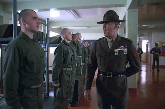 "Former Marine Corps Staff Sgt. R. Lee Ermey played a drill instructor to perfection in Kubrick's ""Full Metal Jacket,"" which screens at the Byrd on Tuesday, May 22. Ermey died this year at 74."
