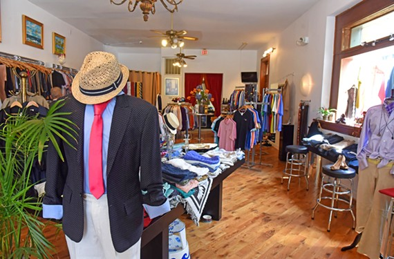 It's A Man's World at 100 W. Broad St. has seen its men's consignment shop grow of late.