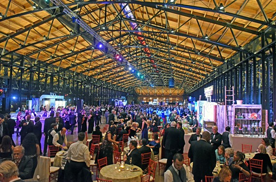 The soaring 500-foot Main Street Station train shed welcomed 3,000 guests Jan. 13 for the governor's inaugural gala.