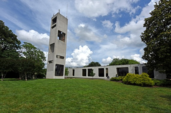 The ChildSavers building, designed by architect Philip Johnson, has reigned from its perch on Church Hill since 1968.