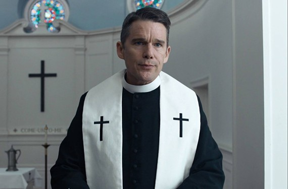 Ethan Hawke plays the Rev. Toller, a hopeless and worn-down religious leader in a movie worth watching.