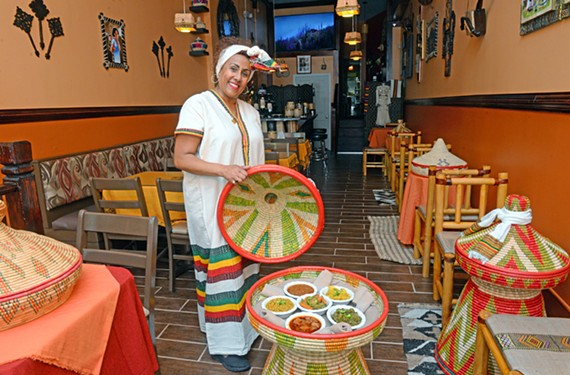 Mesi Ketema owns KuRu Ethiopian Bistro on West Grace Street.