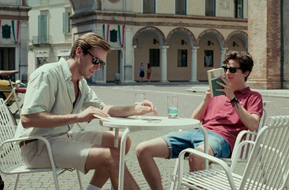 """Armie Hammer is Oliver and Timothee Chalamet is Elio in the critically acclaimed """"Call Me by Your Name."""""""