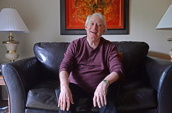 "Robert Albertia, 84, a Richmond actor who co-starred in the 1971 Barksdale staging of ""The Boys in the Band,"" relaxes at home."