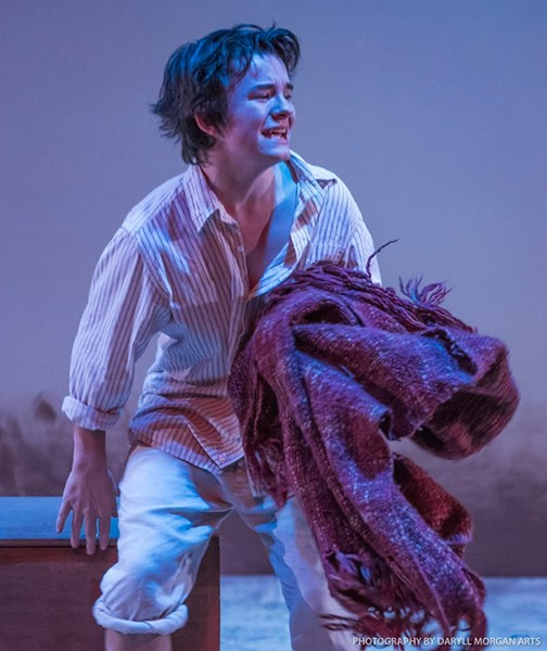 "Actor Stone Casey was nominated this year for an Artsie in the promising newcomer category for his role as Buddy Layman in the theater's ""The Diviners."" - DARYLL MORGAN ARTS"