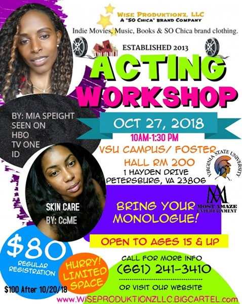 Wise Produktionz Acting Workshop Vsu Foster Hall Rm 200 Stage