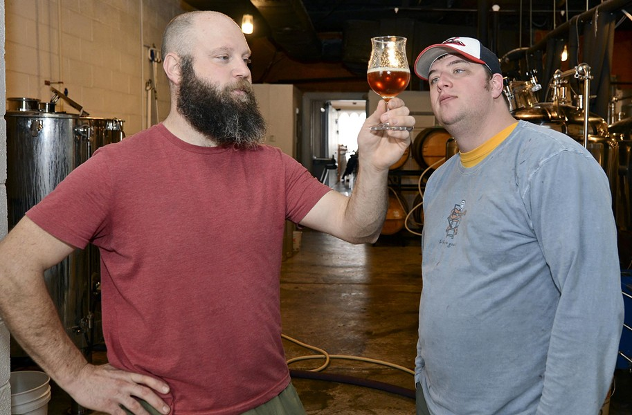 Mike Brandt and Ryan Mitchell opened Garden Grove Brewing in Carytown earlier this year. - ASH DANIEL