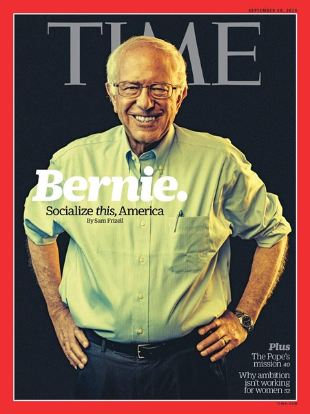 Presidential candidate Bernie Sanders photographed on Sept. 15 by Stephen Voss. Retouching by local Jeff Glotzl.