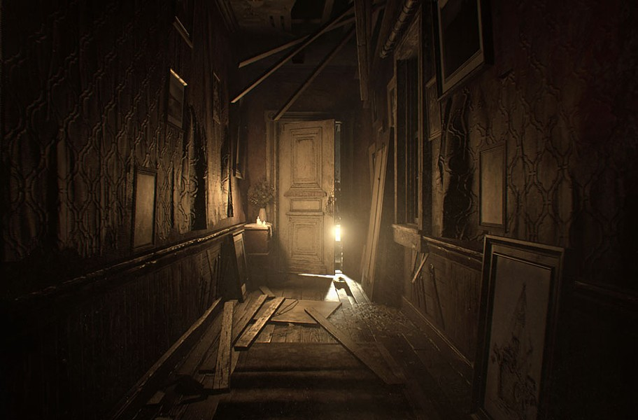 Dripping with atmosphere, the game nails its lo-fi video horror aesthetic. - CAPCOM