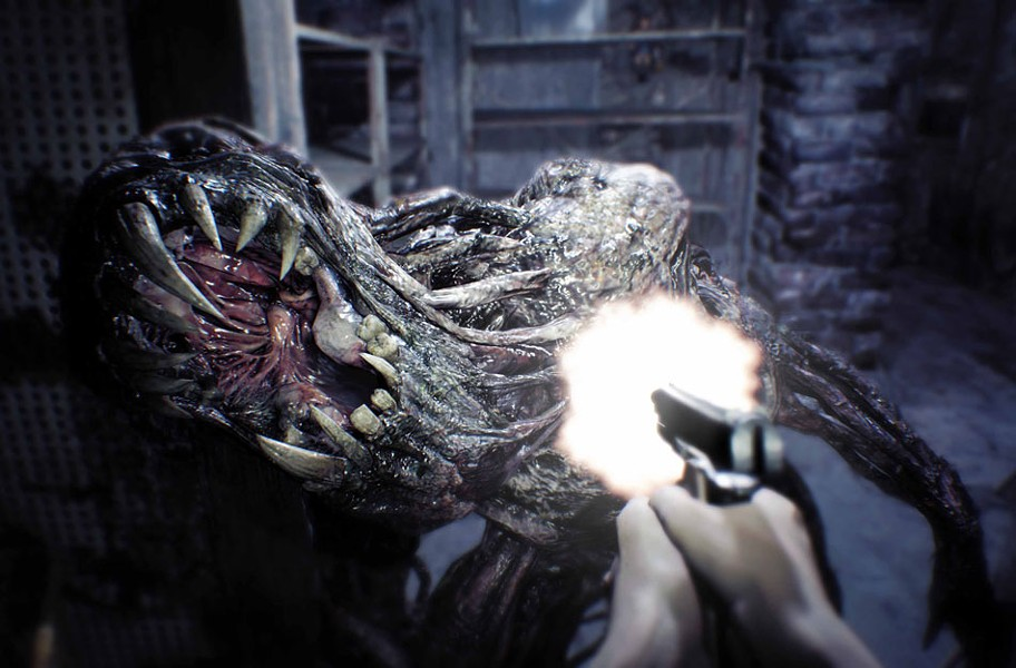 Sinister swamp-dwelling cannibals aren't the only dangers on the bayou in Resident Evil 7 Biohazard. - CAPCOM