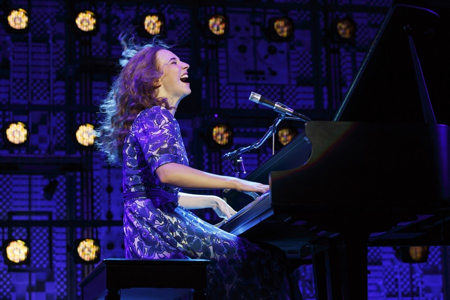 "Julia Knitel as Carole King during a big payoff moment at Carnegie Hall in ""Beautiful."""