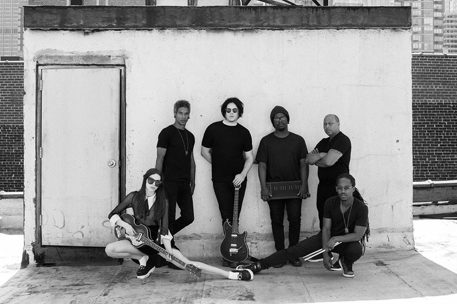 Jack White posted this photo on a social media page featuring Richmond musician Devonne Harris to his right.
