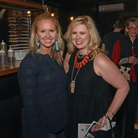The Black Book of Style launch party Megan Marconyak (right).
