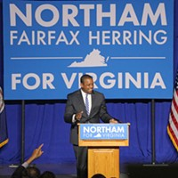 Election Night Newly elected Lieutenant Governor Justin Fairfax greets the crowd in Fairfax. Charlotte Rene Woods