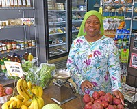 River City Market's Zatima Brown offers fresh produce for people in Highland Park.
