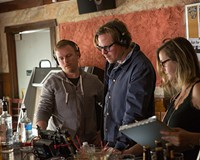 """Richmond native and producer Michael Gottwald, director Geremy Jasper and script supervisor Kim Rideout working on the film """"Patti Cake$."""""""