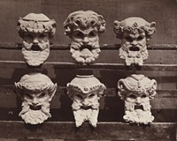 """Masks for the vestibule of the Paris Opera"", ca. 1870, printed 1876, Louis-Émile Durandelle (French, 1839–1917), albumen print."